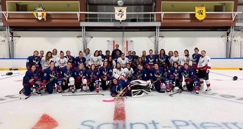 Plongez au cœur de la plus grande équipe féminine à Saint-Pierre et Miquelon.